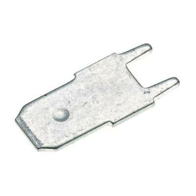 100 x RS Pro Solder Tab Terminal, Uninsulated, Tin Plated, 7.9 x 6.4mm