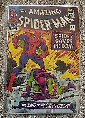 THE AMAZING SPIDER-MAN #40 (1963) - ORIGIN STORY OF THE GREEN GOBLIN  Grade: VF-