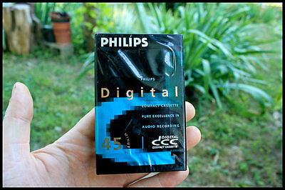Philips DCC Blank Digital Compact Cassette 45 Min tape SEALED!