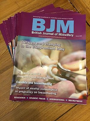 31 Midwifery Journals - BJM, Midirs, RCM Midwives Magazine. All good condition.