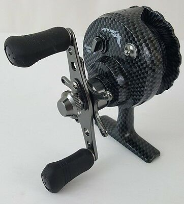 ICE FISHING REEL Eagle Claw Inline In Line Ice Reel Graphite 4+1BB Item ECIR2600