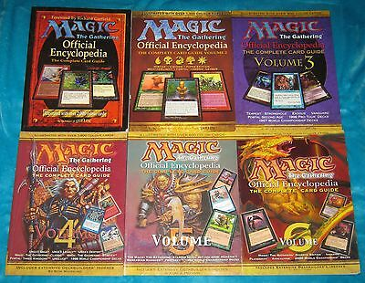 Magic The Gathering ENCYCLOPEDIA - Complete Set Volumes 1, 2, 3, 4, 5 & 6 - MTG
