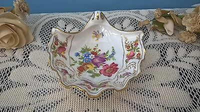 Hammersley Dresden Sprays Bone China Made In England Shell Dish