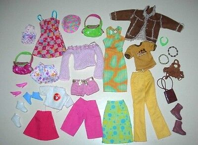 Colourful+Cool Barbie Doll Clothes+Accessories,Dresses,Shoes,Bags,Jewellery