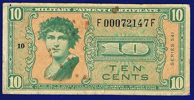 Usa Military Issue 10 Cents 1958 M37 Serie541 Vg/fine Es-2