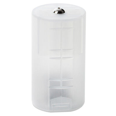8 x AA to D Size Battery Adapter White Case PK