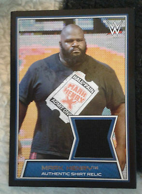 Wwe Mark Henry Road To Wrestlemania Event Used Shirt Relic Card. Rare.