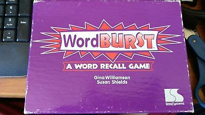 Language Therapy-Word Burst by LinguSystems - A Word Recall Game