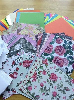 Craft Clearout for Card Making Assortment of 6 x 6 Papers, cards and envelopes