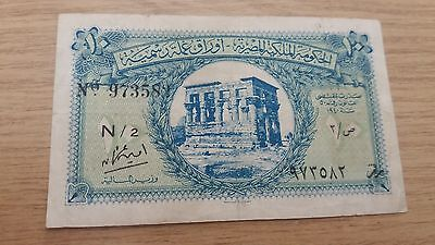 EGYPT 10 PIASTRES 1940 - P167b  VERY DECENT  BANKNOTE