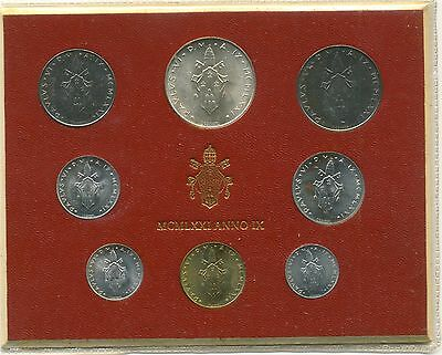 Vatican City 1971 8-coin set, *Rare Set*