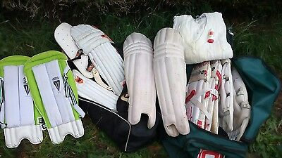CRICKET EQUIPMENT PADS x5 sets last years