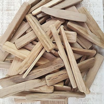 Approx 30 (250Gm) Soft Rounded Driftwood Thin Wooden Pieces For Craft Home Decor