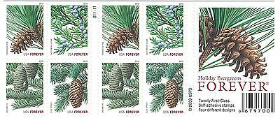 USPS Forever Stamps Holiday Evergreens Booklet of 20