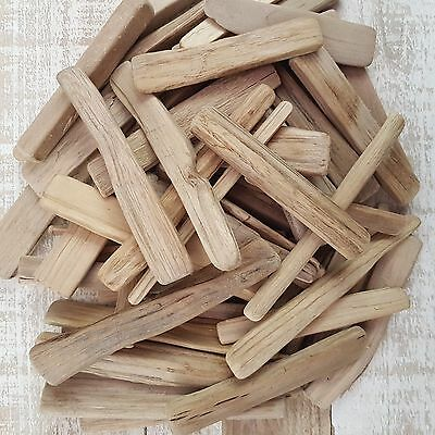 Approx 80 (1000G) Soft Rounded Driftwood Thin Wooden Pieces For Craft Home Decor