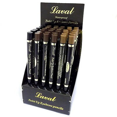 Laval Waterproof Twist Up Eye Brow  Eyebrow Pencil - Blonde, Black or Dark Brown