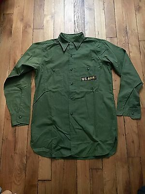 Vintage N-3 Utility Shirt L/S size 15 Deadstock condition Rare US Army
