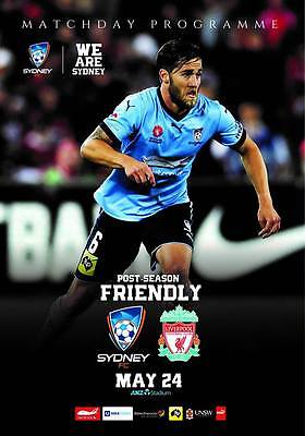 Programme Sydney v Liverpool 24.05.2017 Friendly. Unofficial