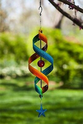 Garden patio Yard Decor Outdoor - Hanging Wind Spiral Kinetic Spinner Star