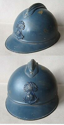 Wwi French Adrian Helmet Model 1915 M15 Colonial Infantry / Infanterie Coloniale