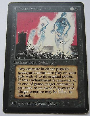 ANIMATE DEAD - BETA Magic The Gathering Card - MTG