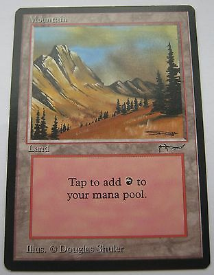 MOUNTAIN - ARABIAN NIGHTS Magic The Gathering Card - MTG