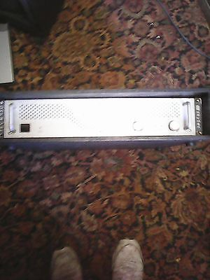 skytec power amplifier  in rack sleeve/speaker cables 500w rms pc output!!