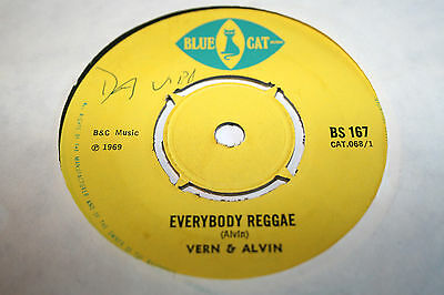 VERN & ALVIN everybody reggae/another fool. uk 45 Blue Cat BS 167. EX+