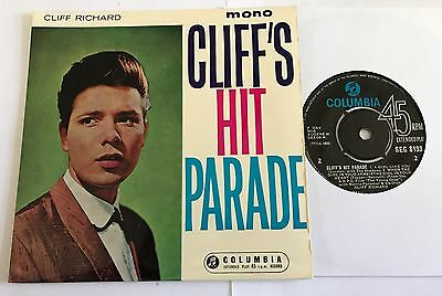 Cliff Richard Cliff's Hit Parade Ep Columbia 1962  Nice Copy !!
