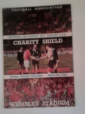 Manchester united v Liverpool 1977/78 very good condition Charity Shield wembley