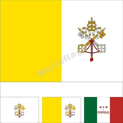 1 Vatican City Flag 3X5FT Historical Merchant Papal States Roman Infantry Banner