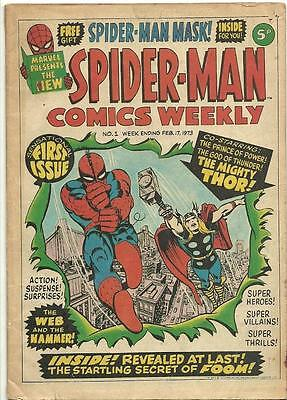 Spider-Man Comics Weekly #'s 1 to 7, 9 , 11 , 33 , 34 (11 Issues)