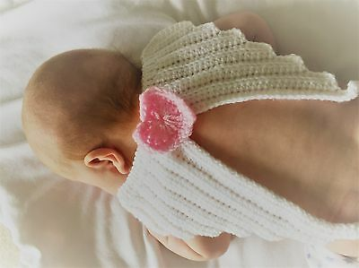 HANDMADE IN UK Crochet Knit Newborn Baby Fairy Angel Wings Photography Prop
