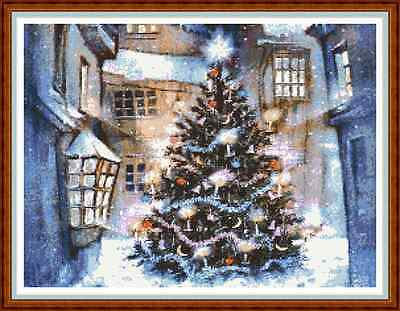 "'VICTORIAN CHRISTMAS TREE' Cross Stitch Chart/Pattern (16¾""x12½"") Xmas NEW"