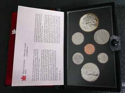 1980 Canada Royal Canadian Mint Double Dollar 7-Coin Set w/ Silver Dollar
