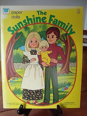 THE SUNSHINE FAMILY Paper dolls! COMPLETE and UNCUT!! A Must See!