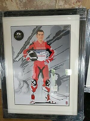Michael Dunlop isle of man TT signed and framed