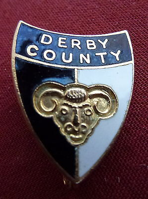 VINTAGE DERBY COUNTY LAPEL BADGE - 1960s/70s