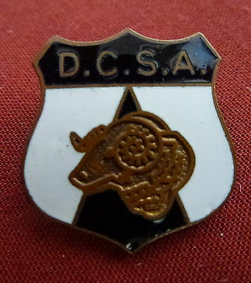 VINTAGE DERBY COUNTY SUPPORTERS' ASSOCIATION LAPEL BADGE - 1960s/70s