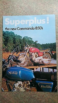 Papers19 - NORTON COMMANDO 850CC SUPERPLUS Poster & Specifications