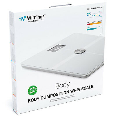 Withings Body Composition Wi-Fi Smart Scale in White New Sealed UK