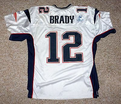 Men'S Authentic Reebok Nfl Jersey Patriots Tom Brady Signed By Robert Craft Coa