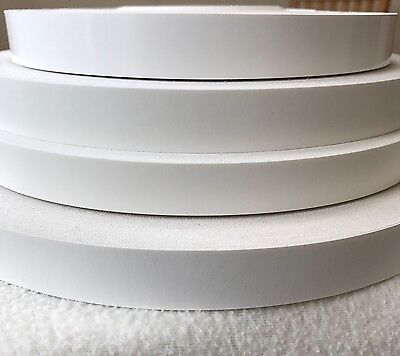 White Melamine Iron on Edging Tape in White, Gloss & Textured