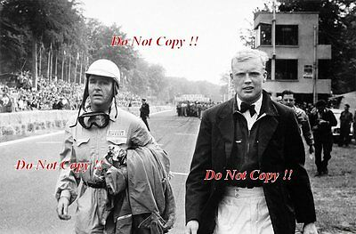 Mike Hawthorn & Giuseppe Farina Portrait French Grand Prix 1952 Photograph