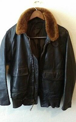 Vintage US NAVY G-1 Vietnam War Leather Flight Jacket Size 40
