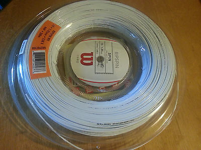 New Wilson Rip spin White Tennis String Reel 15/1.35mm / 660ft (200m) - RRP £140
