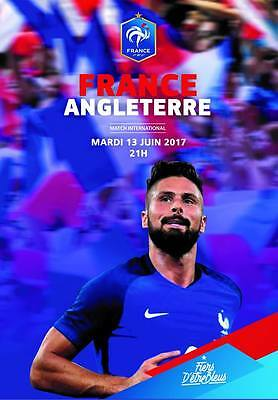 Programme France v England 13.06.2017 Friendly. Unofficial