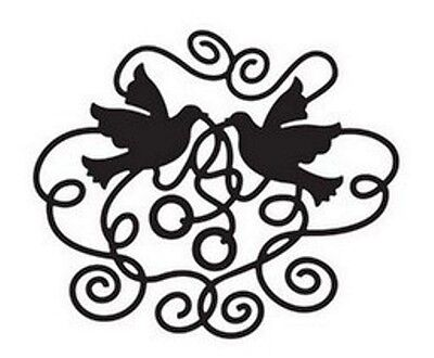 Swirling Doves with Wedding Rings metal die - for use in most cutting systems