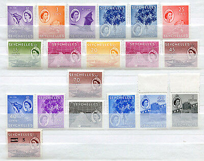 Seychelles Set of 19 mint MNH stamps issued 1954-57 - FREE UK POSTAGE