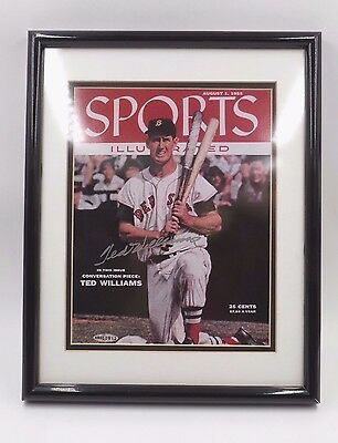 Ted Williams Signed August 1 1955 Sports Illustrated Cover Framed Upper Deck Coa